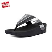 新降7折【FitFlop】LOTTIE PATCHWORK多彩金屬光拼接夾腳涼鞋-女(黑色)
