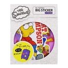 【日本正版】辛普森家庭 防潑水 貼紙包 行李箱貼 手帳貼 貼紙 The Simpsons sun-star - 611877