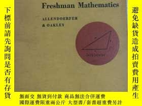 二手書博民逛書店Fundamentals罕見of Freshman Mathem