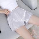 安全褲防走光女夏天蕾絲可內外穿冰絲無痕薄...