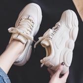 小白鞋 秋季新款運動鞋女老爹跑步韓版學生百搭小白潮鞋秋款休閒板鞋