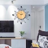 掛鐘 北歐創意鐘表掛鐘客廳個性時尚現代簡約時鐘靜音家用掛表歐式藝術 莎拉嘿呦
