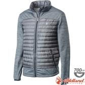 Wildland 荒野 0A62992-93深灰色 男彈性針織拼接羽絨外套 保暖雪衣羽絨服/防寒禦寒夾克/防風羽絨衣*