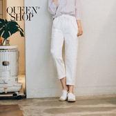 Queen Shop【04101245】腰綁帶鬆緊老爺褲 三色售*預購*