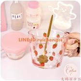 可愛玻璃杯早餐燕麥牛奶水杯女夏季家用帶蓋帶刻度【大碼百分百】