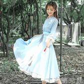 春秋季漢服女復古中國風洋裝 漢元素民族風服飾   至簡元素