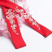 春秋漢服配飾兩用腰帶武俠風繡花頭帶系帶民族風古風飾品配件