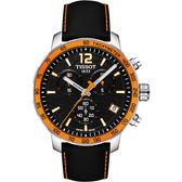 限量 TISSOT 天梭 FIBA 籃球世界盃手錶-黑x橘框/42mm T0954171605700