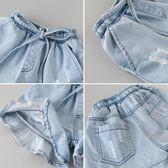 女童牛仔短褲 兒童褲子洋氣2018新款童裝夏裝熱褲 寶寶韓版裙褲薄 小巨蛋之家
