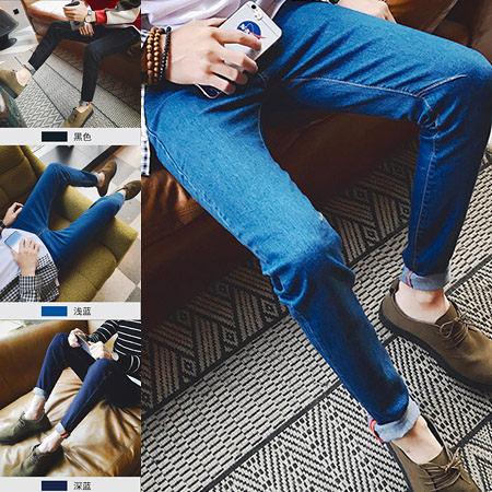 ※現貨 素面縫線小腳牛仔褲 3色 28-36碼【CM65121】