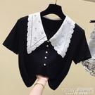 大碼夏裝2021年新款女胖妹妹mm短袖t恤小個子設計感小眾ins潮上衣 『新佰數位屋』