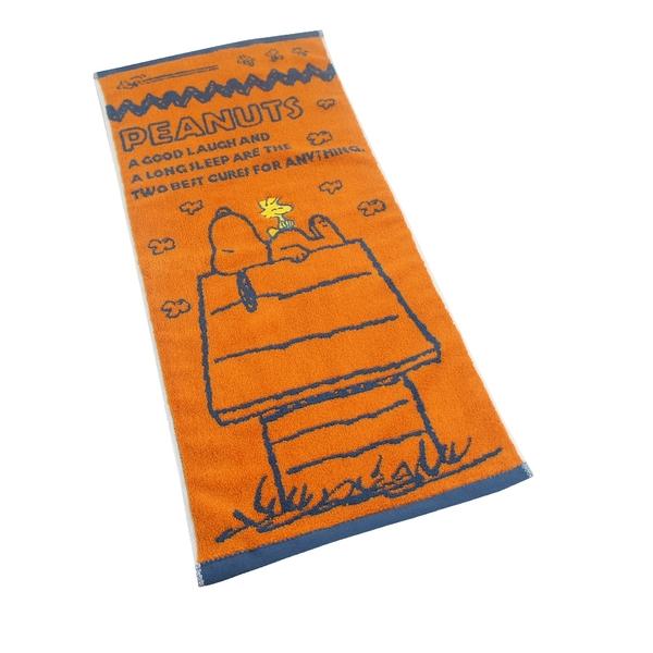 (超值2條組)(經典款)SNOOPY史努比 純棉撞色緹花毛巾MORINO摩力諾 免運