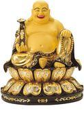 彌勒佛菩薩CD09銅鎏金佛像1尺3寸2【十方佛教文物】