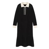 洋氣孕婦秋裝毛衣連衣裙中長款減齡時尚冬季打底針織哺乳裙子 優拓
