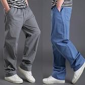 亞麻褲男士休閒褲夏季薄款棉麻長褲大碼寬鬆男褲子直筒褲韓版潮流 極簡雜貨