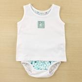 【愛的世界】純棉圓領小花豹無袖套裝/6M~2歲-台灣製- ---幼服推薦