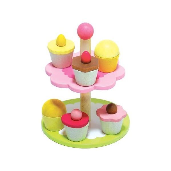 《廠商直送》mentari 木製玩具 繽紛杯子蛋糕組(下午茶家家酒) 1組【小三美日】限宅配/無貨到付款