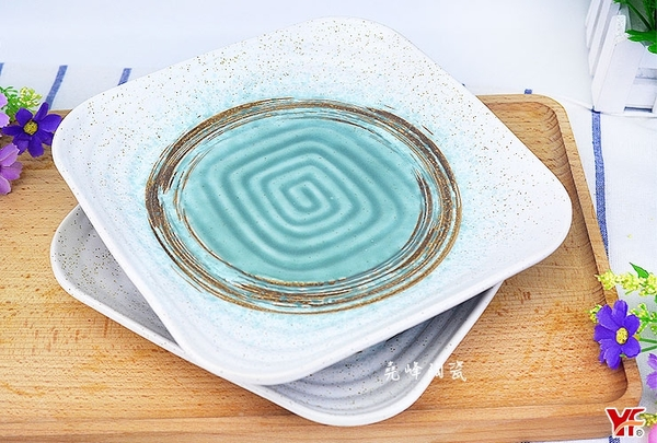 【堯峰陶瓷】日式餐具 綠如意系列 8.5吋正方盤(單入) 水果盤|壽司盤|早餐盤|西盤餐|套組餐具系列