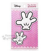 〔小禮堂〕迪士尼 米奇 造型瀏海貼組《2入.白.手套》固定貼.無痕貼 8039321-50018