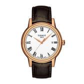 TISSOT CARSON羅馬石英腕錶 T0854103601300 咖