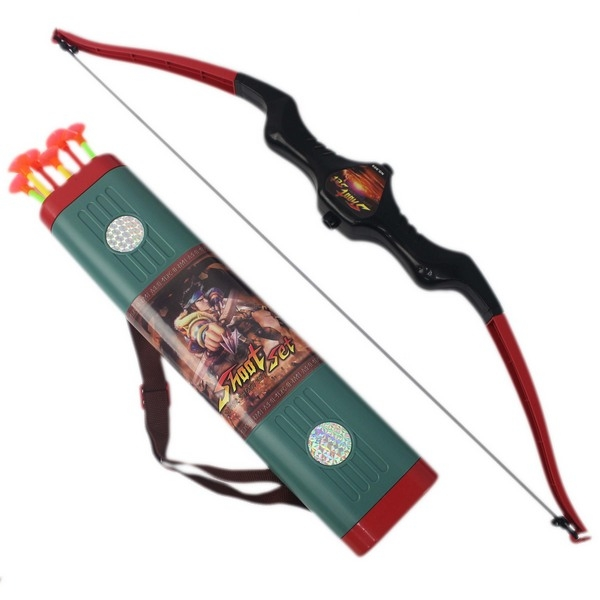 兒童弓箭射擊玩具組 一般吸盤弓箭 909/一袋入(促150)  弓長64公分 6支吸盤箭43cm 附箭袋-CF139707