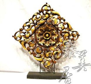 木雕工藝品 東南亞風格  家裝飾品鏤空花型