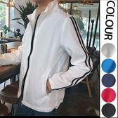經典流行簡約條紋造型百搭休閒運動外套