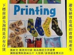 二手書博民逛書店英文原版罕見printing step-by-step一步一步學