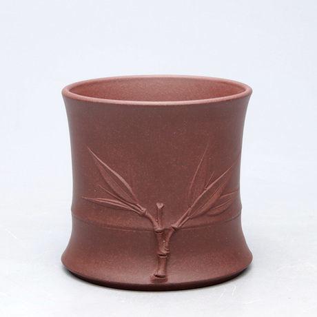 原礦紫砂精品茶杯品杯 竹葉品茗杯 紫泥