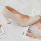 現貨 優雅曲線 時尚美鞋 北歐風女神 手作婚鞋推薦 好走不磨腳時尚好搭配 21-26 EPRIS艾佩絲-玫瑰金