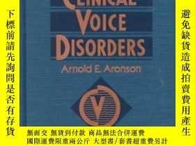 二手書博民逛書店Clinical罕見Voice Disorders: An Interdisciplinary Approach-