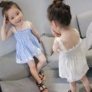 無袖洋裝 女童吊帶平口花朵洋裝 可當上衣...