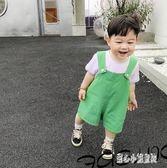 男嬰童 男寶寶韓版寬松背帶短褲夏裝新款男小童洋氣休閒褲LZ1439【甜心小妮童裝】