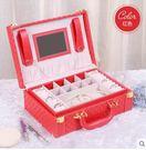 新貨到&首飾盒木質公主歐式帶鎖韓國首飾收納盒批發絨布手飾盒