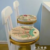 飄窗墊子兔子圓形36cm椅子坐墊創意卡通四季可愛榻榻米棉麻坐墊 小艾時尚.NMS