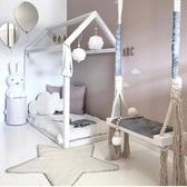 兒童千吊椅兒童房裝飾寶貝娛樂實木板海綿墊棉繩千 交換禮物 YXS