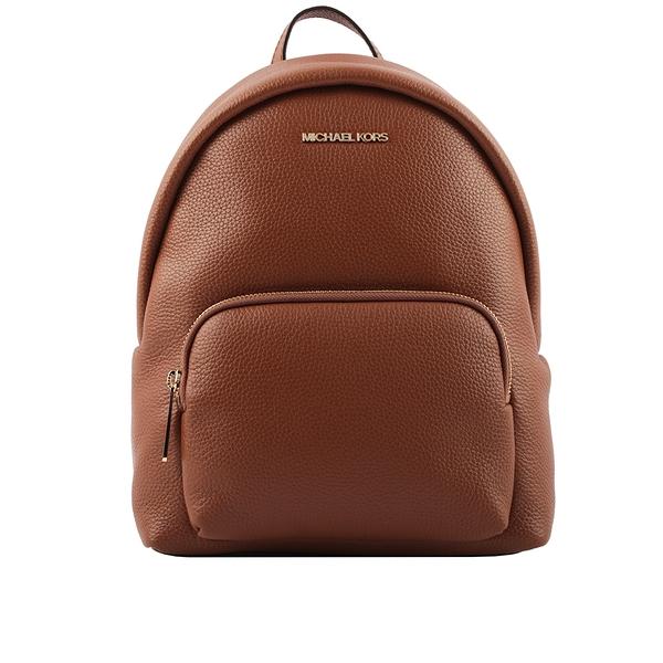 【MICHAEL KORS】金字荔枝皮革口袋後背包(中款)(焦糖色) 35F0GERB2L LUGGAGE