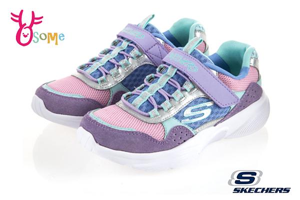 Skechers MERIDIAN 中大童 復古撞色拼布 運動鞋 慢跑鞋 S8218#紫色◆OSOME奧森鞋業