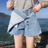 牛仔短褲女韓版學生夏裝chic熱褲大碼寬松顯瘦闊腿褲裙【韓衣舍】