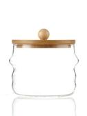 onlycook高硼硅玻璃調味罐套裝可視竹木蓋廚房調味盒調料瓶放鹽罐