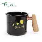 丹大戶外【Truvii】木柄琺瑯杯 400ml –天燈感溫變色杯