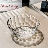 家用玻璃果斗創意客廳擺件歐式大號水果盤果籃干果盤透明玻璃碗HPXW