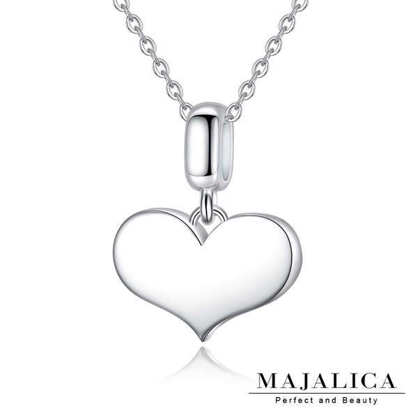 Majalica愛心鎖骨鍊925純銀吊墜項鏈刻字紀念 生日情人節送禮銀飾品牌推薦PN7102