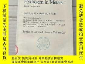 二手書博民逛書店hydrogen罕見metals I(P1776)Y173412