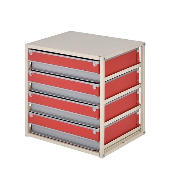 收納櫃 公文櫃 辦公收納 文件櫃 收納 收納盒【B0097】硬式紙四抽收納盒 MIT台灣製ac 完美主義
