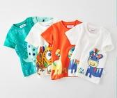 男童短袖t恤純棉恐龍男孩新款小童兒童洋氣潮童夏寶寶半袖夏裝男