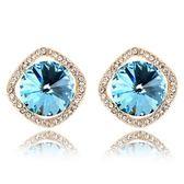 水晶耳環 925純銀(耳針式)-華麗鑲鑽生日情人節禮物女飾品4色73bd40【時尚巴黎】