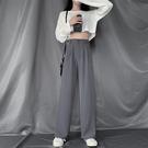 學生冬裝直筒褲褲子 韓版冬季保暖西褲 複古潮流長褲 女士高腰顯瘦寬管褲 寬鬆女生休閒褲