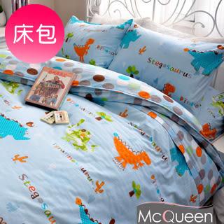 【McQueen‧麥皇后】《近畿龍》精梳棉雙人床包三件組