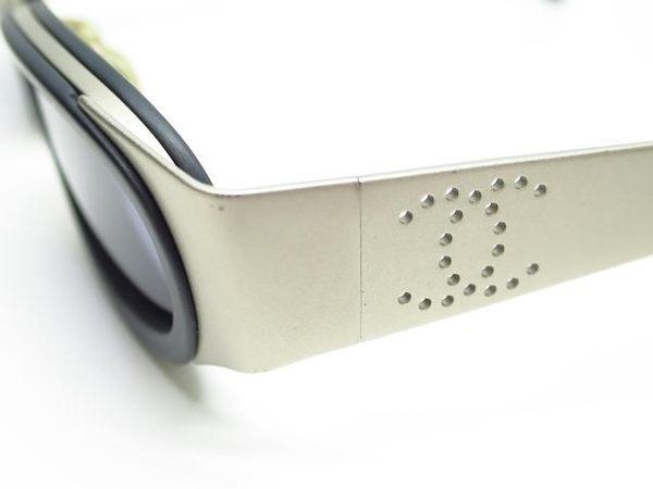 CHANEL 銀色鏡框造型太陽眼鏡 【BRAND OFF】